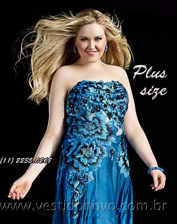 152704d93 vestido plus size azul detalhe de estampa no busto com transparência loja  zona sul sao paulo sp