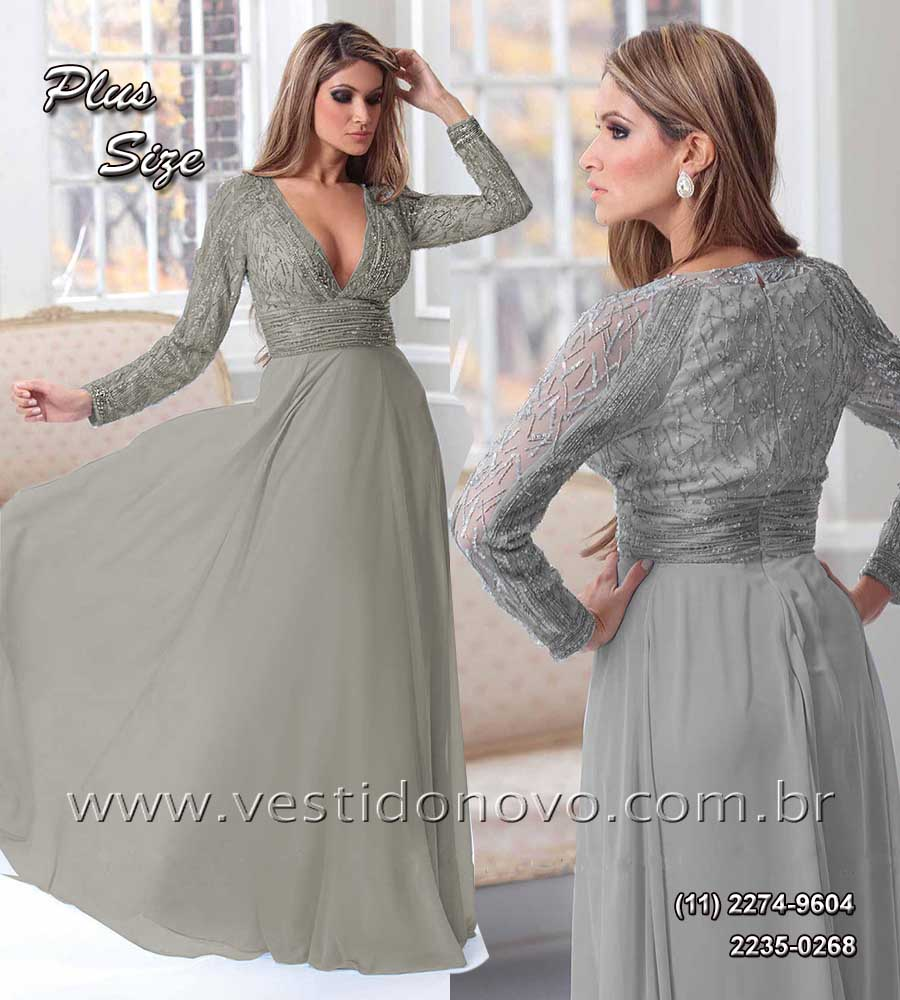 Vestido Plus Size De Festa Primeiro Aluguel Ou Compra Mae