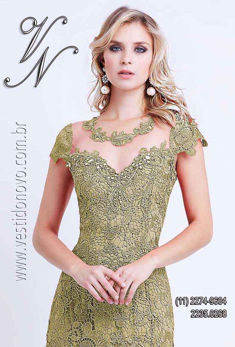 59369f62a Vestidos de renda Plus size nude, mãe do noivo , formatura, casamento civil  -